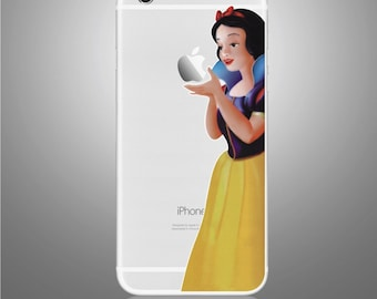 Snow White Iphone 7 plus sticker removable Vinyl Sticker Skin Decal Cover