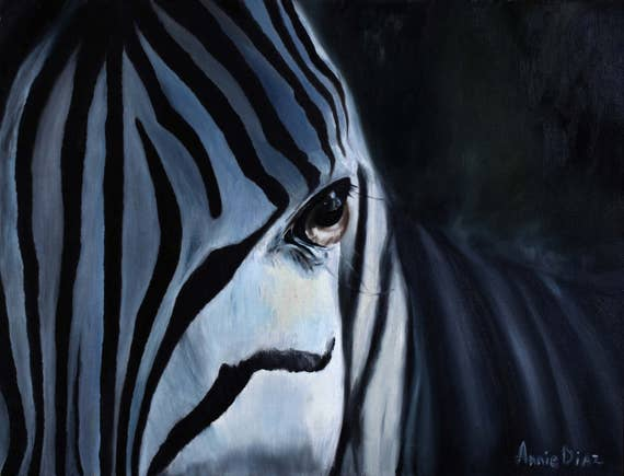 African Animal Art On Canvas Painting