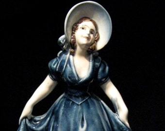 Katzhutte Figurine of Girl in Bonnet Dress and Knickerbockers C1914-45