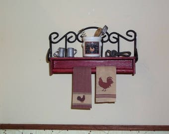Dollhouse Miniature Rustic Primitive Roosters Tea Dish Hand Towels