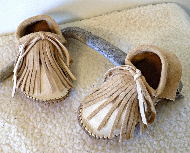 les enfants et # ; s les mocassins à à à moccs sociaux pour enfants, cousu main elk cacher des chaussures sur mesure au naturel, terre, buffalo. d412b9