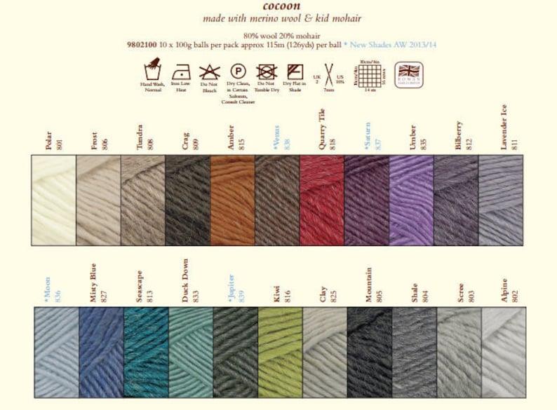 Hedge Rowan Cocoon 829 yarn
