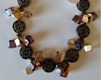 Brown Cubed Trio Bracelet