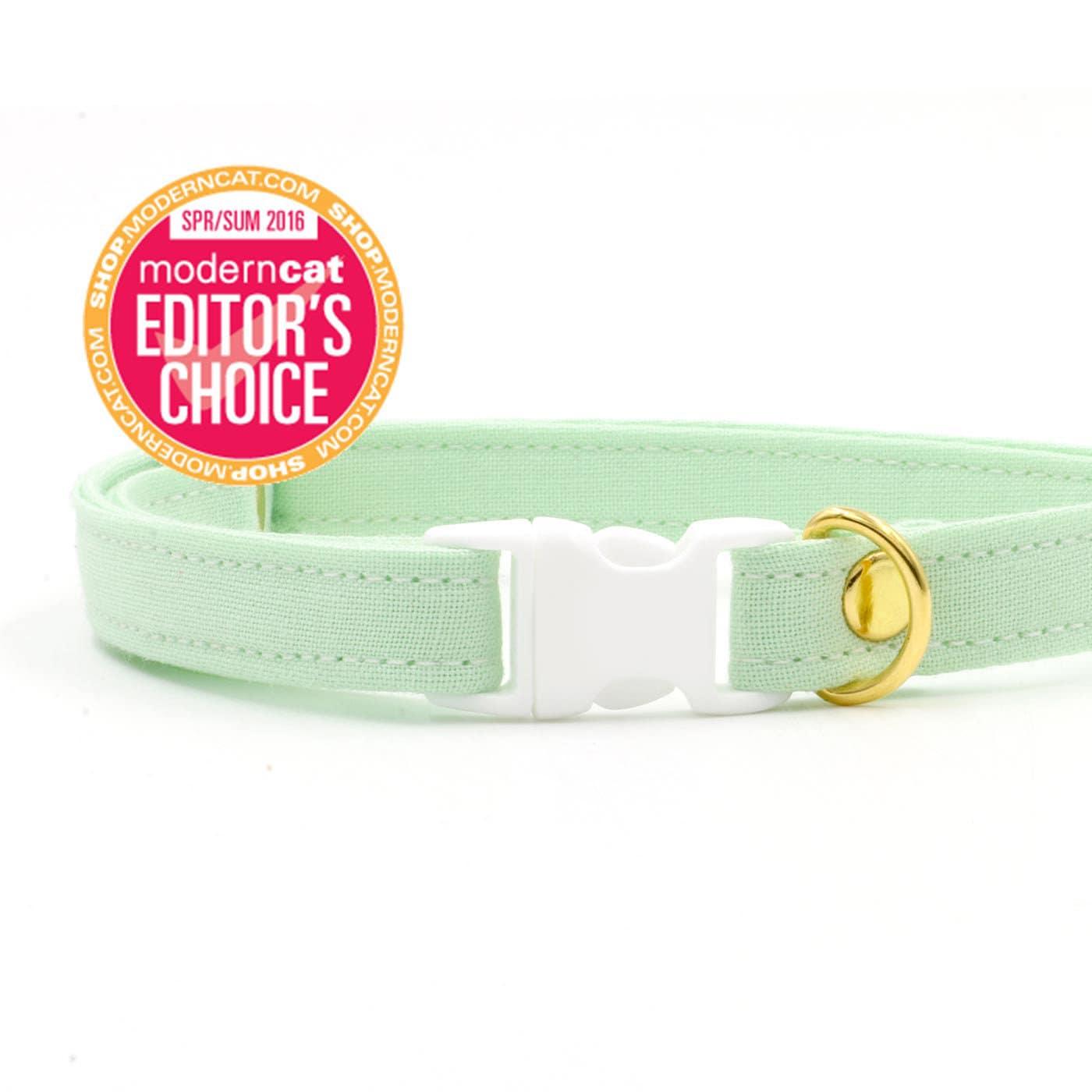 ce33eb94b7e9 Mint Green Cat Collar with Breakaway Safety Buckle Kitten
