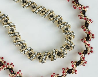 Cosmic Spiral Ropes - beading pattern - Tutorial only - PDF