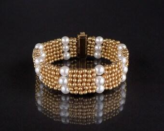 Grace - Beading Pattern to make a Bracelet - Diamond Weave - Tutorial only - PDF Direct Download