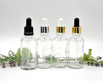 6 ELEGANT Slim 3ml Clear Glass Roll on