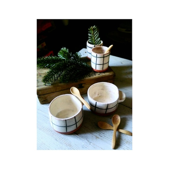 Coffee mug Bowl large ceramic clay tile Tea Cup