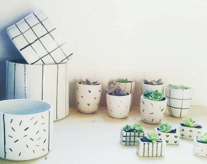 pot Scandinavian design ceramic, vase for plant fat, ceramics and pottery, pot plant, flower pot planters pot