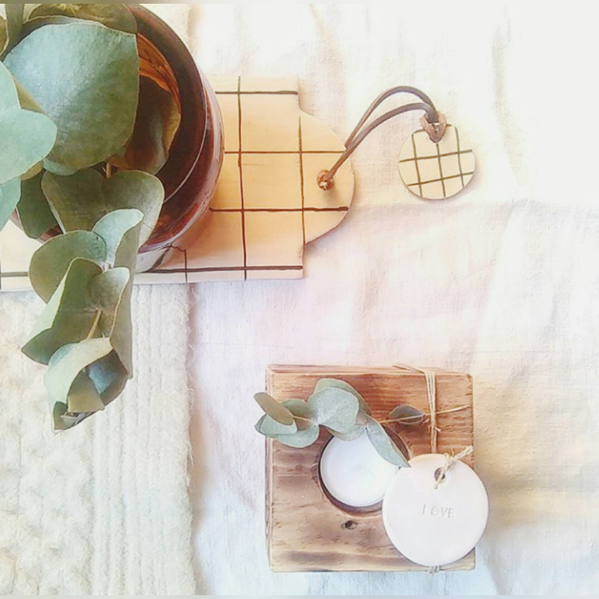 Cutting Board Ceramic Tiles Grid White Black Scandinavian Minimalist - Ceramic tile cutting boards