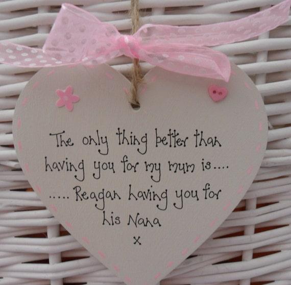 Recuerdo Día De Las Madres Regalo Para Mamá NAN Niñera Nanna gracias regalo de cumpleaños