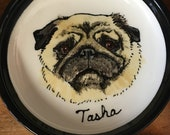 Custom Made to Order Pet Portrait - 4 inch small plate