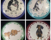 Custom Pet Portraiture, Hand Painted Small Round Ceramic Box with Portrait of Your Pet