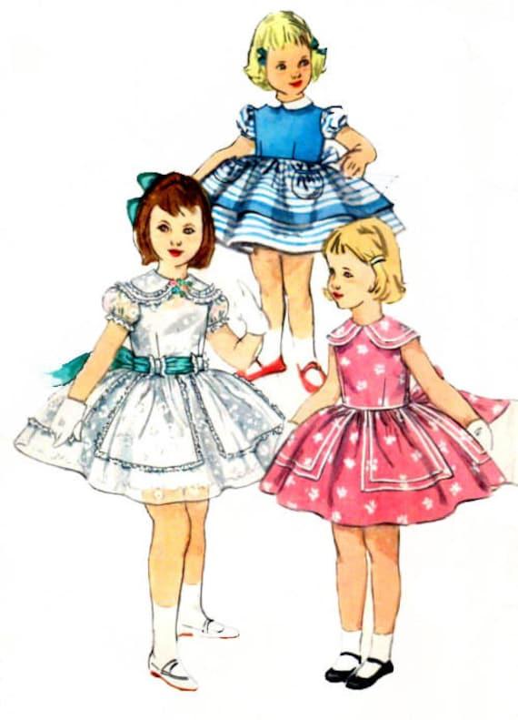 Simplicidad 1400 costura patrón Vintage 1950s chicas fiesta | Etsy