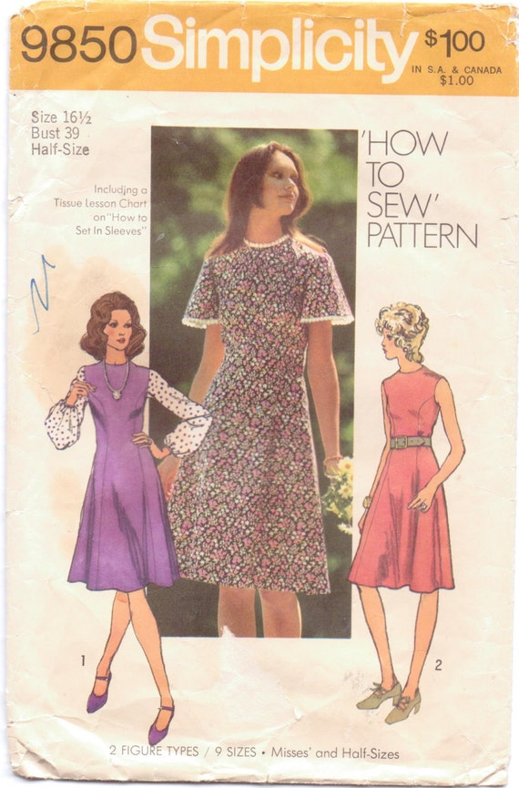 Simplicity 8884 Misses/' Princess Dress w Variations Size 14 *Rare Sewing Pattern