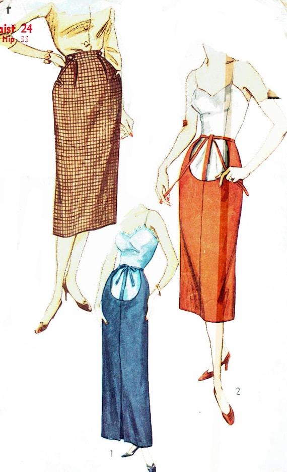 Costura patrón Vintage 1950s maternidad simplicidad 4004 falda | Etsy