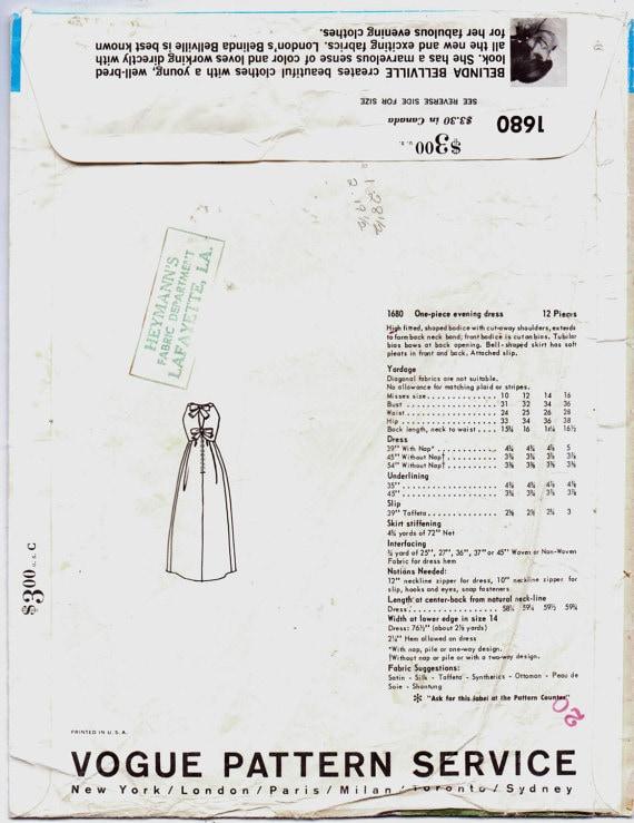 Vintage años 1960 Vogue 1680 vestido coser patrón Couturier | Etsy