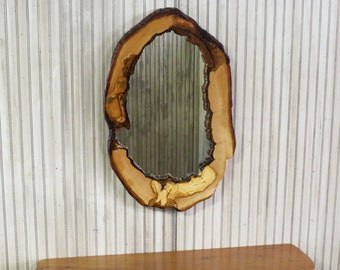 7519cfecdee Hollow Log Mirror - 33 x 21 Naturally Hollow Linden Live Edge Wood Vanity  or Entryway Mirrors