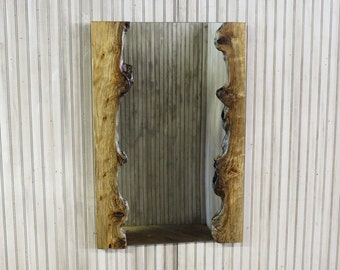f92487b8e6c Burled Driftwood Mirror or Optional Frame Kit - 36x24 Natural Live Edge  Wood Vanity or Entryway Mirrors