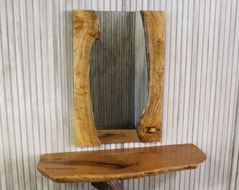 1a1e95686bd Figured Driftwood Mirror or Optional Frame Kit - 36x24 Natural Live Edge  Wood Vanity or Entryway Mirrors
