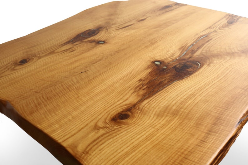 b3e49a6dc81 Curly Sassafras Dining Table Top w  Crushed Geode Inlay