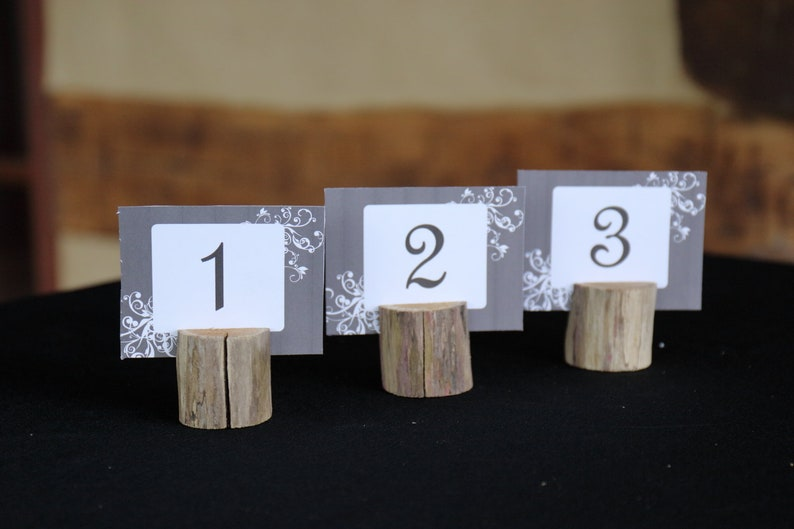 4ecbb4f4320 5 pk Rustic Wedding   Party Table Numbers or Place Holders