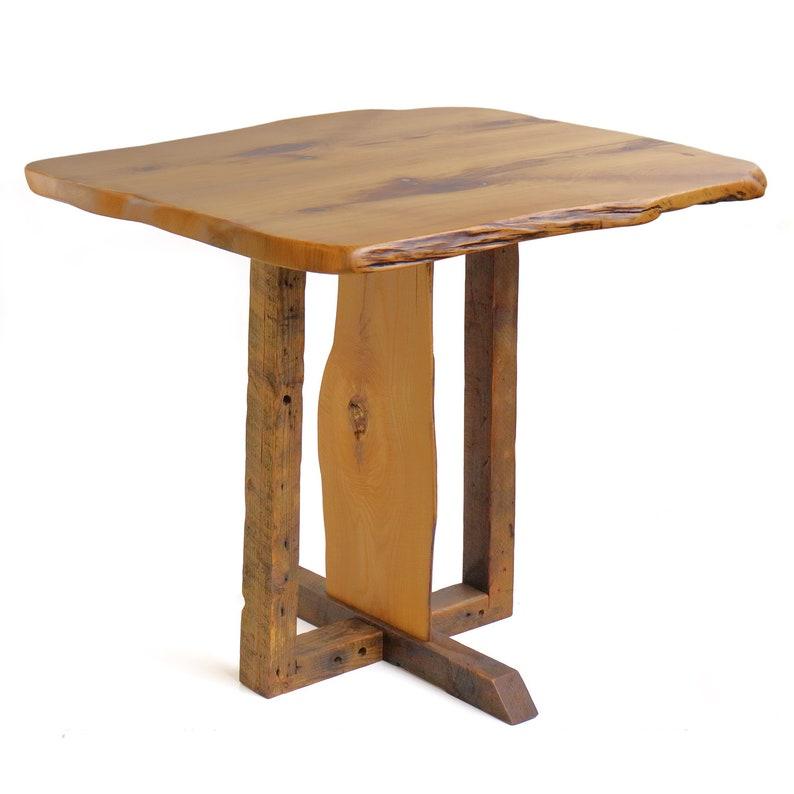 aee304ece1c Reclaimed Wood   Curly Sassafras Pub or Bar Height Table Legs