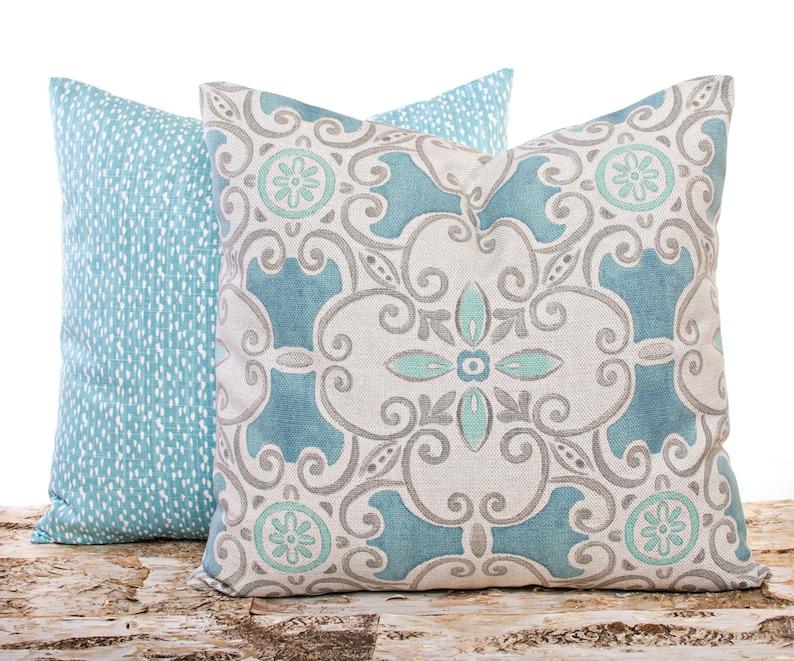 Riverbed Light Blue Pillows Blue