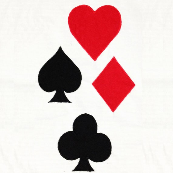 Playing Card Symbols Club Heart Diamond And Spade Machine Etsy