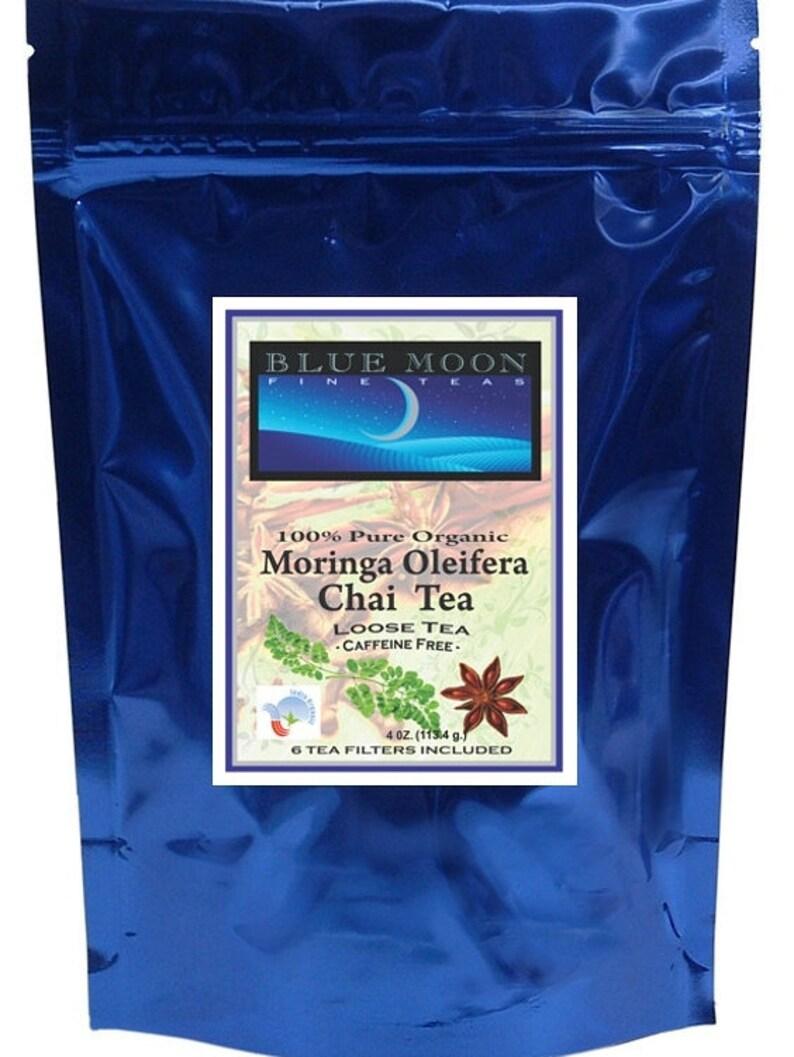Moringa Chai Tea Loose Tea Leaves 4 oz  = 60 - 2 gram cups of tea