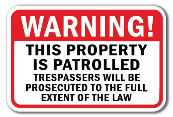 """Private Property NO trespassing  8/"""" x 12/"""" Aluminum Sign WILL NOT RUST MADE USA"""