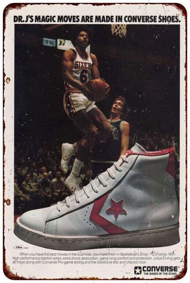 3c768440f51c Dr. J s Converse Sneakers RARE sneaker head AD