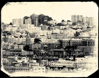 Fine Art on Canvas, San Francisco Art, San Francisco, Fine Art Print, City Art, Landscape Art, Art on Canvas, B&W Photography on Canvas