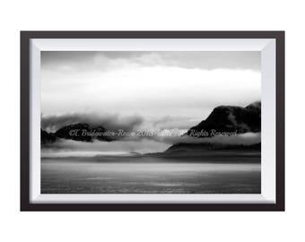 Alaska Photography, Nature Photography, Landscape Photography, Nature Print, Mountain View, Mountain Art, B&W Photography, Fine Art Print
