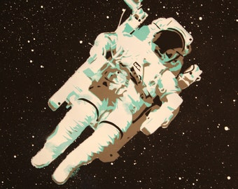 Art Print by Ray Ferrer 'Astronaut' 11 x 14 or 20 x 16