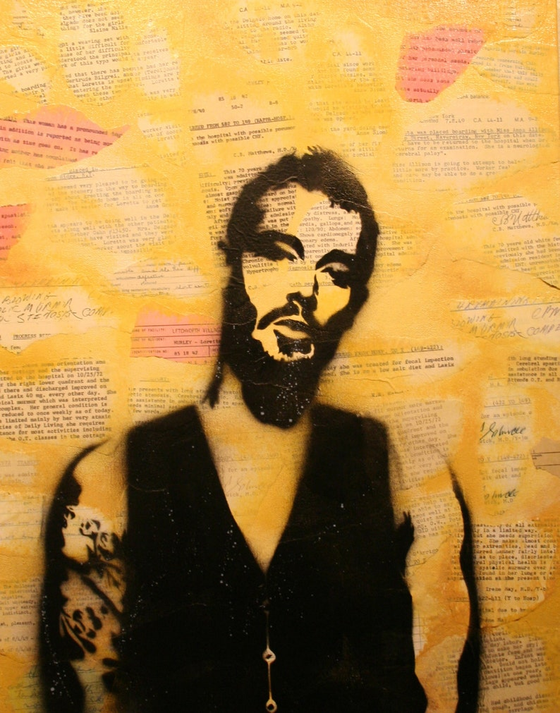 Daniel Johns Art Print from Original Artwork by Rhian and Ray image 0