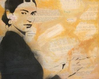 Frida Kahlo Art Print from Original Artwork by Rhian and Ray Ferrer 11 x 14 or 16 x 20