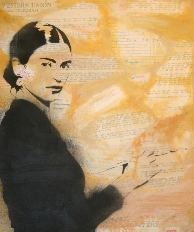 Frida Kahlo Art Print from Original Artwork by Rhian and Ray image 0