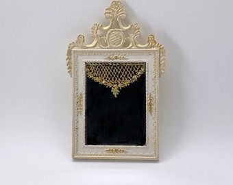 Hand painted mirror French inspiration 18th century