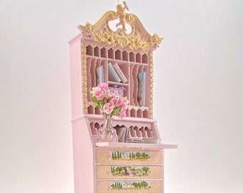 Hand painted romantic desk furniture. Scale 1.12