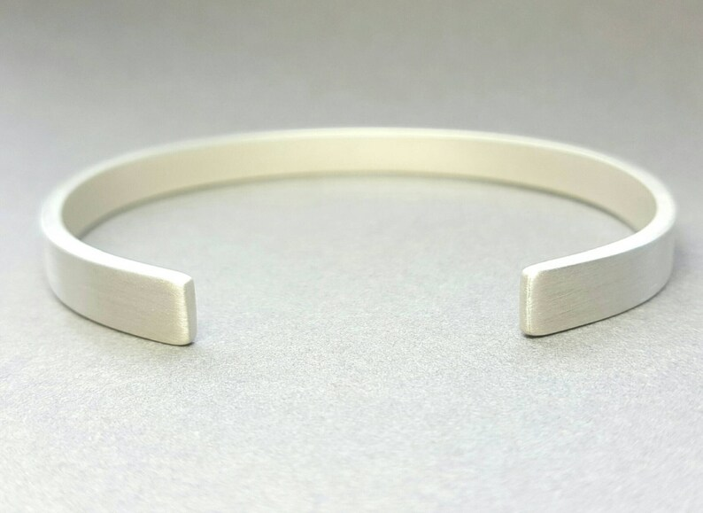 8faaae77cfa 925 Sterling Silver Men's bangle Hand forged open cuff   Etsy
