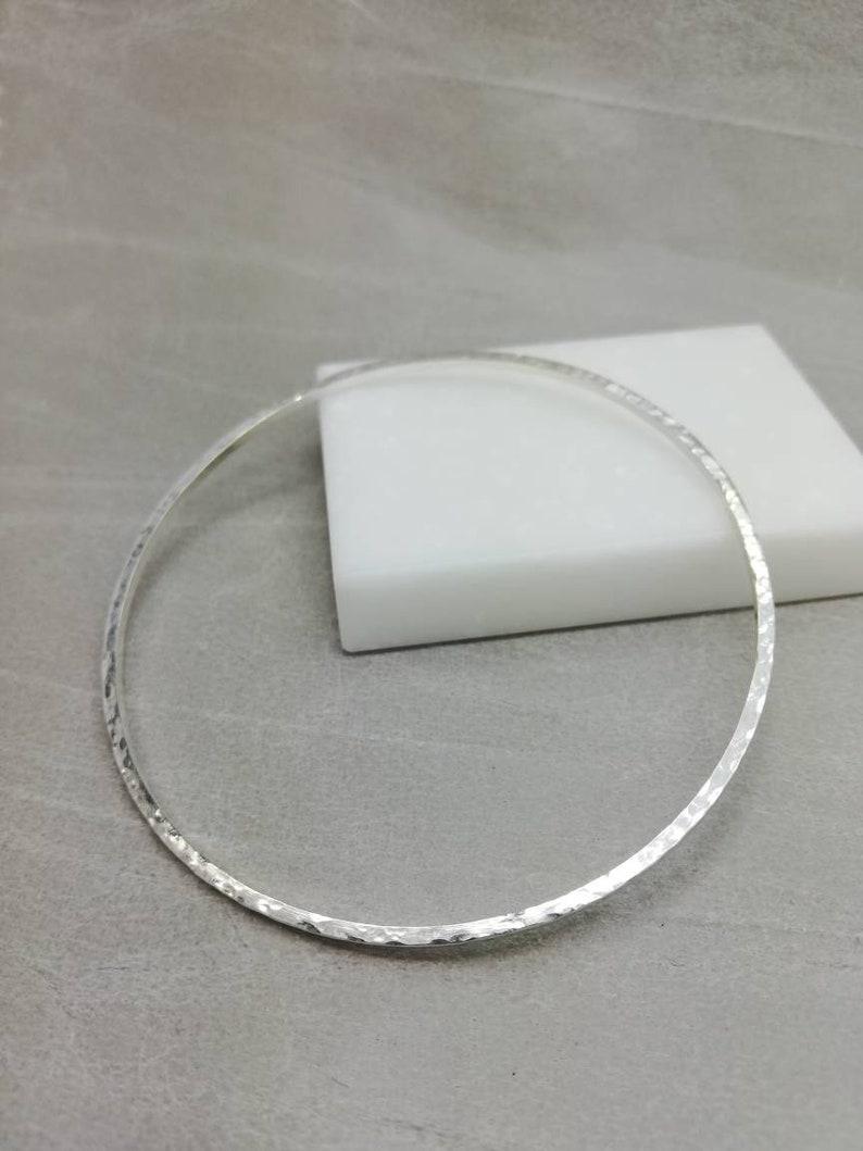 d2f0fdf72ba46 Sterling silver hammered bangle, solid silver bracelet.