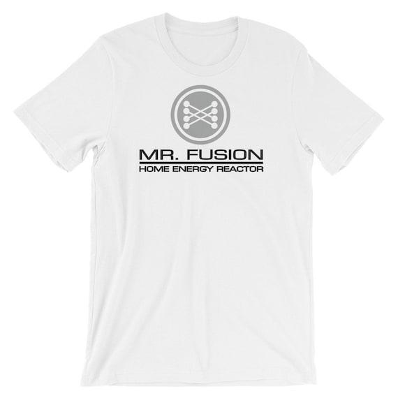 Mr Fusion Back to The Future Retro Movie T Shirt Sci Fi Cool Doc Brown