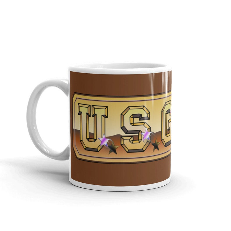 Retro Video Games Classic Computers Commodore 64 US Gold Software Logo Mug