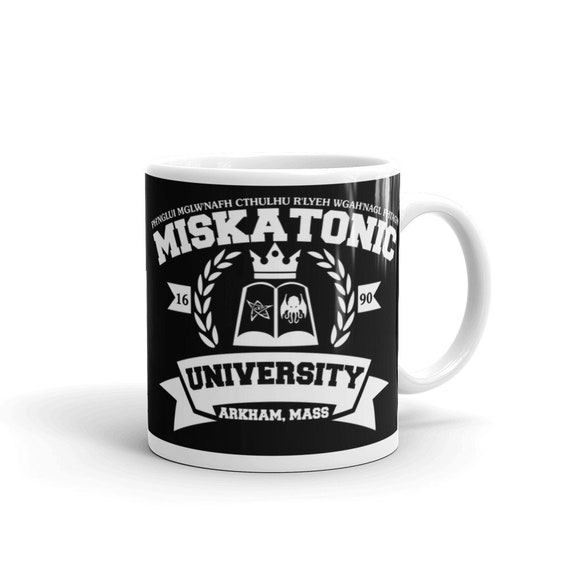 Details about Miskatonic University Cthulhu Lovecraft Inspired Book Ceramic Cup Mug