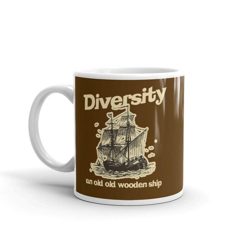 Anchorman Ron Burgundy Diversity An Old Old Wooden Ship Movie Mug