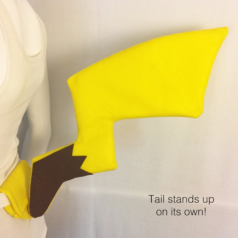 Pikachu Ears and stand-up Tail Pikachu cosplay Pikachu ...