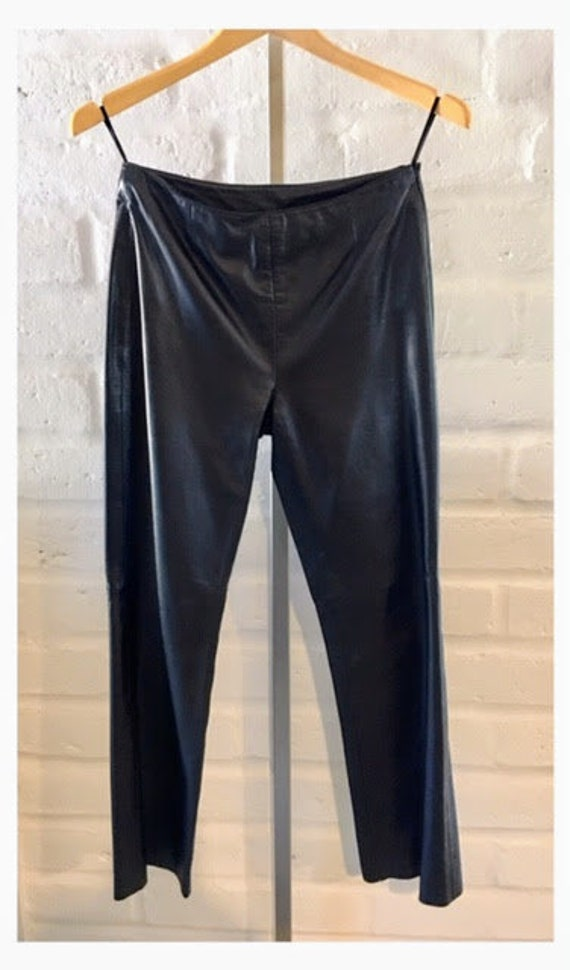 Genuine black leather Pants