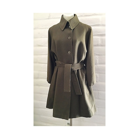 Azzedine Alaia flared and belted coat