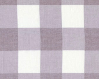LARGE GRAY CHECK Fabric by the Yard, Fat Quarter Gray & White Big Checkered Fabric 100% Cotton Quilting Apparel Fabric Yardage a2-37